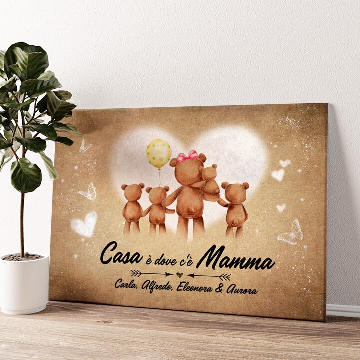 Mamma orso Tela personalizzata