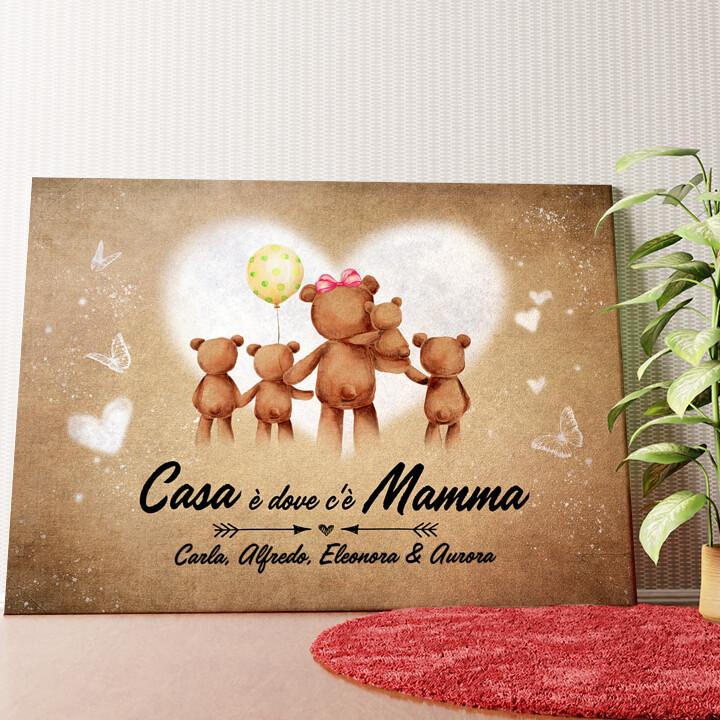 Tela personalizzata Mamma orso