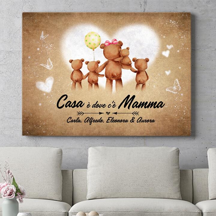 Regalo personalizzato Mamma orso
