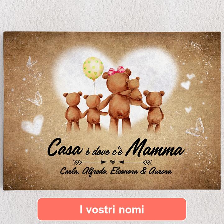 Tele personalizzate Mamma orso