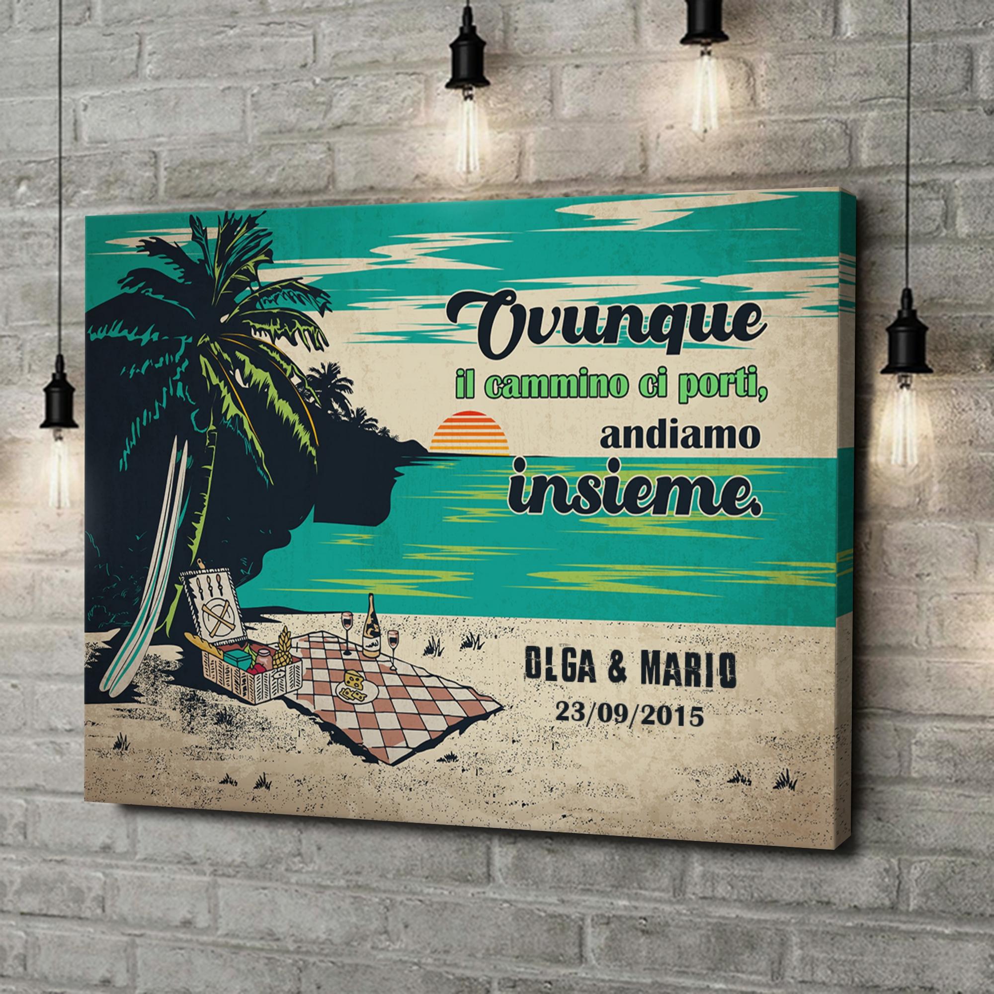 Stampa personalizzata su tela Picnic sulla spiaggia