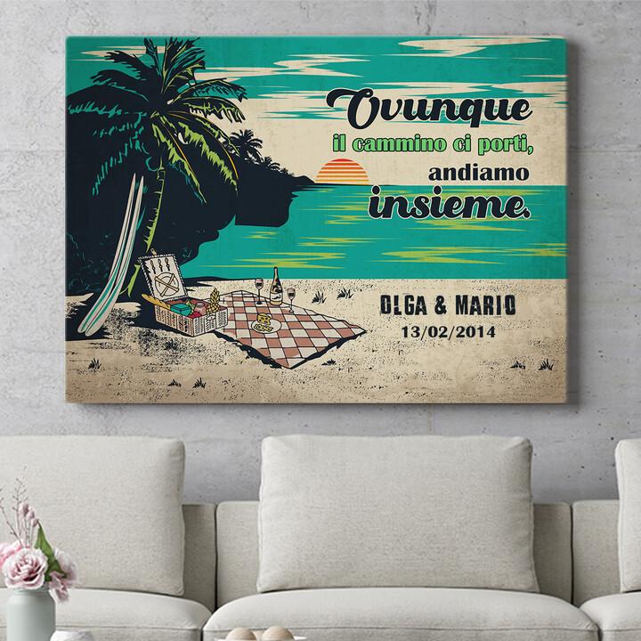 Regalo personalizzato Picnic sulla spiaggia