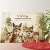Tela personalizzata Famiglia di alpaca