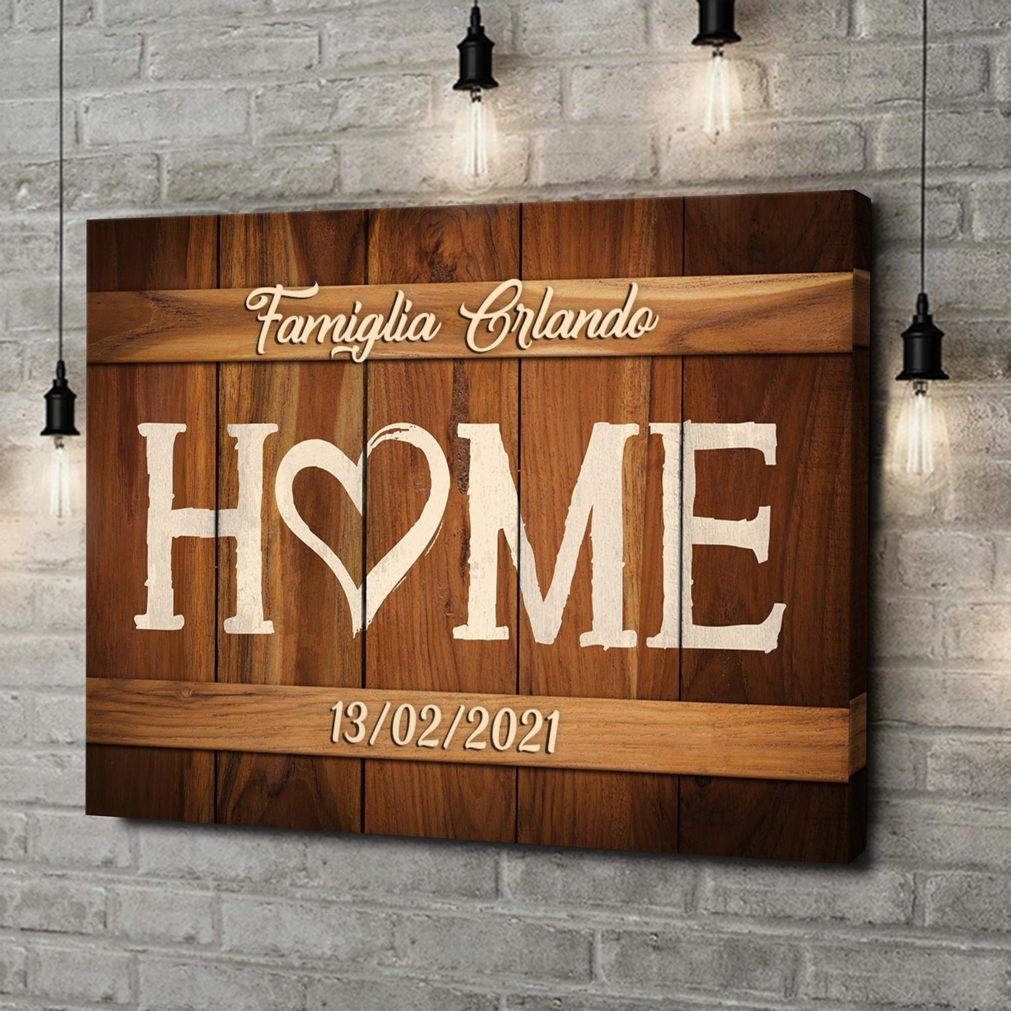 Stampa personalizzata su tela La nostra casa
