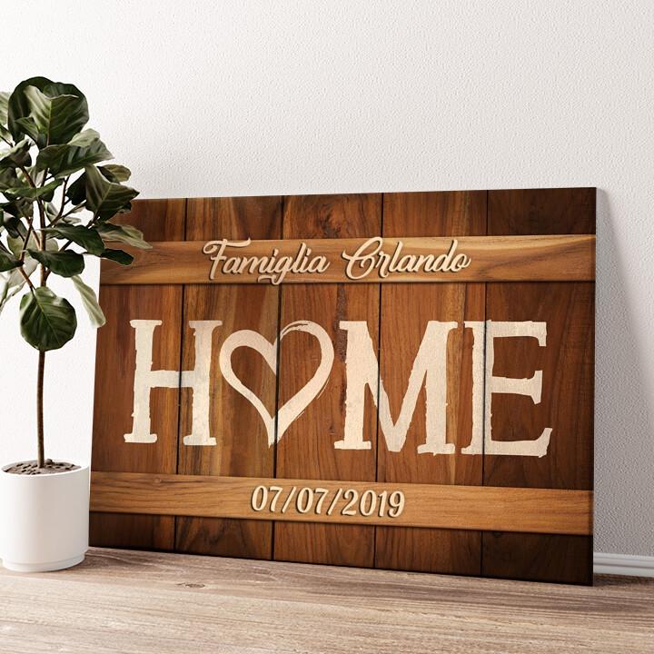 La nostra casa Tela personalizzata