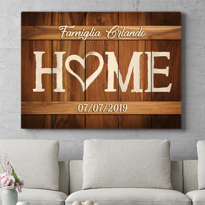 Regalo personalizzato La nostra casa