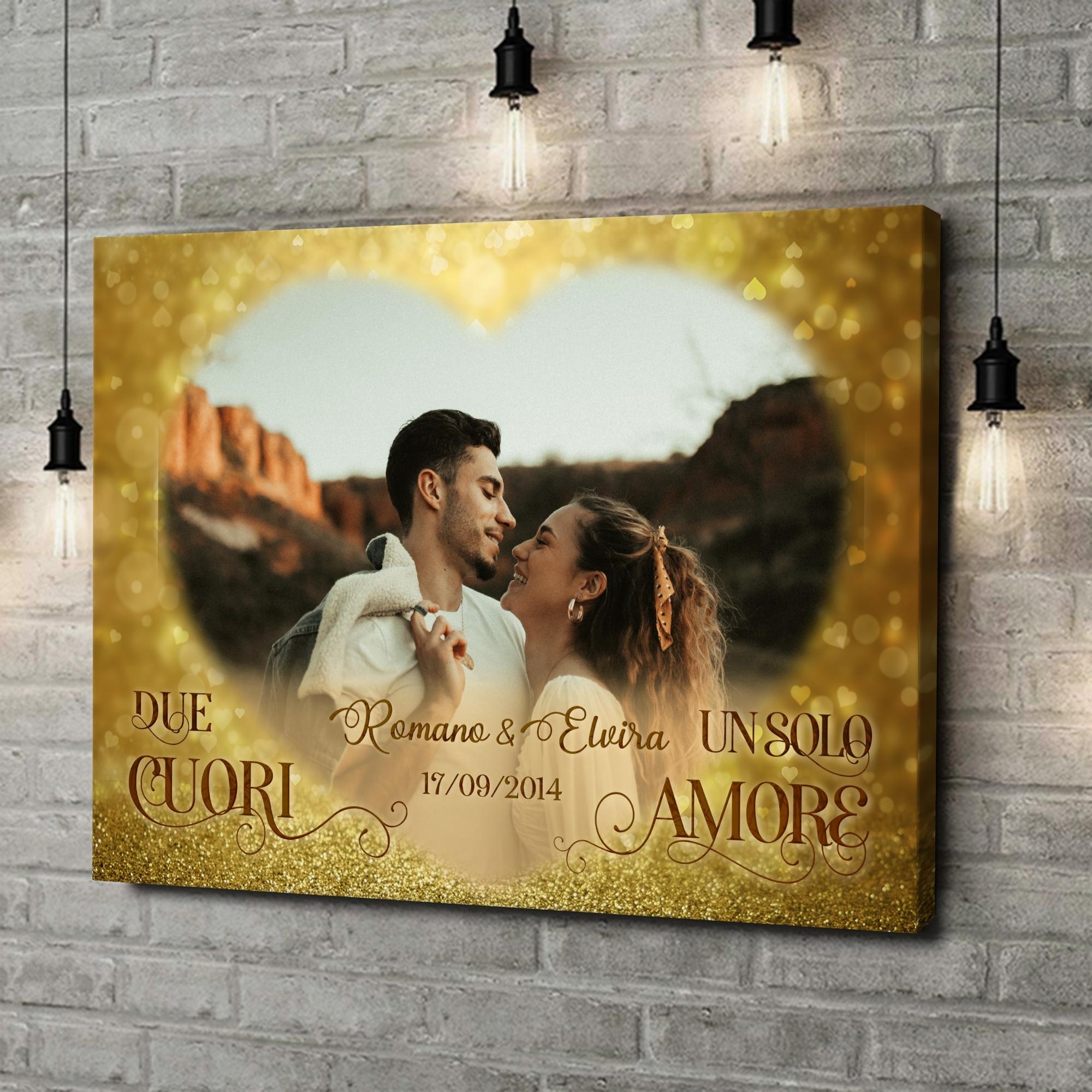 Stampa personalizzata su tela Il nostro grande amore