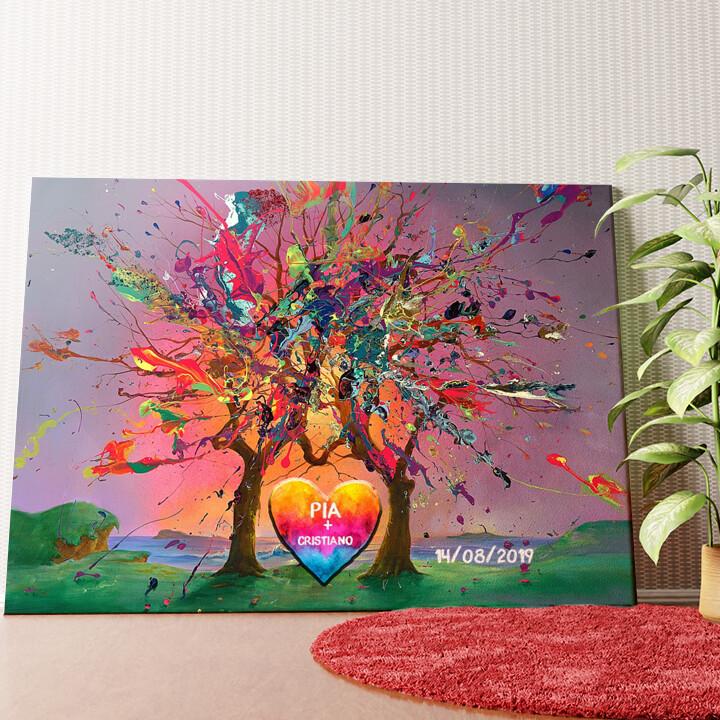 Tela personalizzata Amore colorato