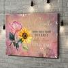 Stampa personalizzata su tela Sorelle dei fiori