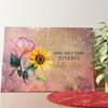 Tela personalizzata Sorelle dei fiori