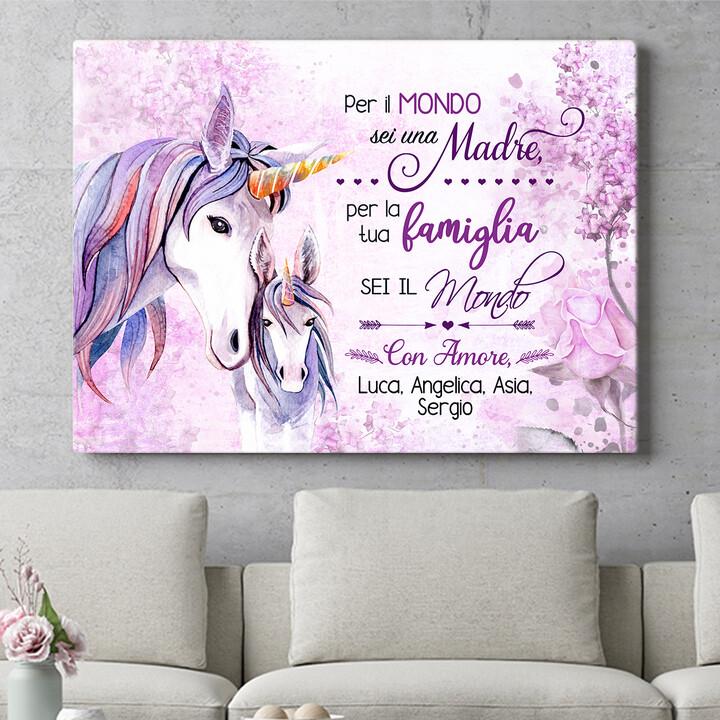 Regalo personalizzato Mamma Unicorno