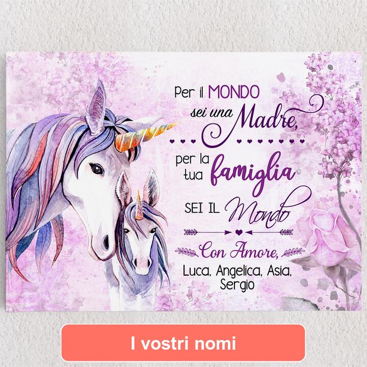 Tele personalizzate Mamma Unicorno