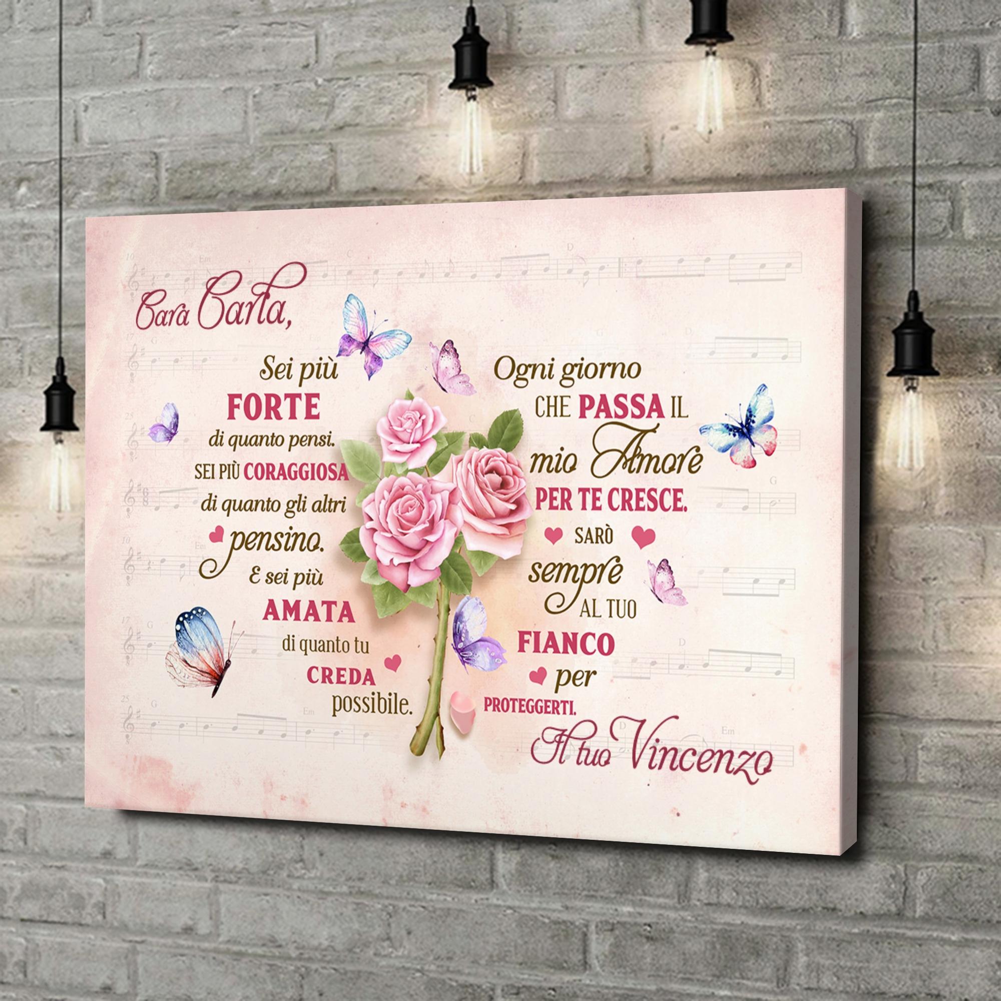 Stampa personalizzata su tela Cuore Romantico