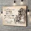 Stampa personalizzata su tela Amore Tigre