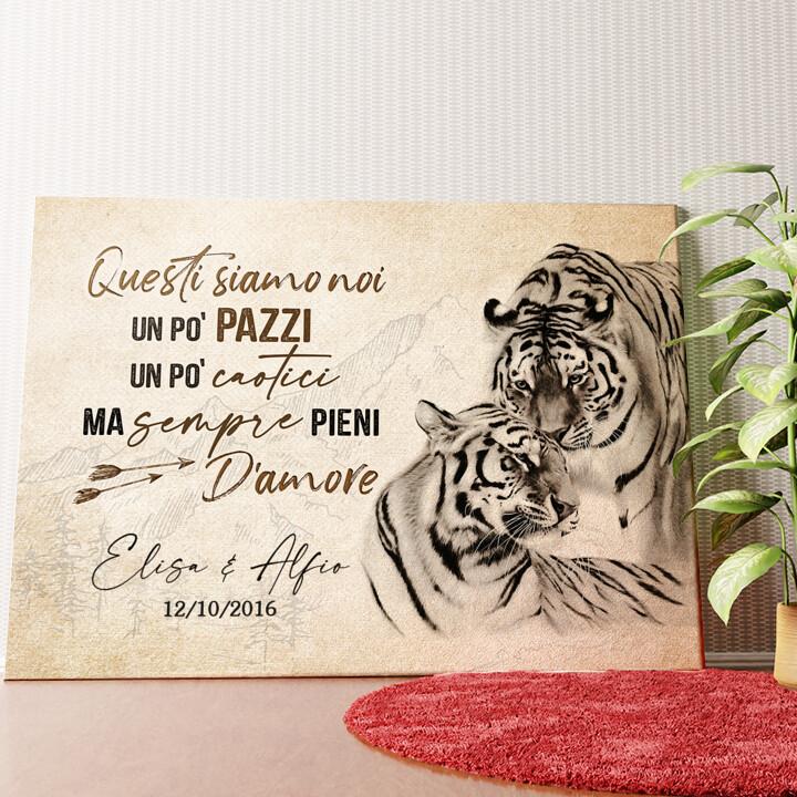 Tela personalizzata Amore Tigre