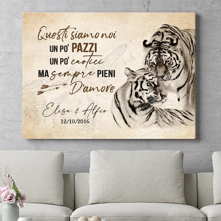 Regalo personalizzato Amore Tigre