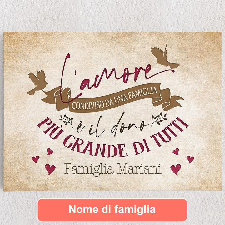 Tele personalizzate Amore familiare