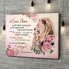 Stampa personalizzata su tela Forza, Coraggio & Amore