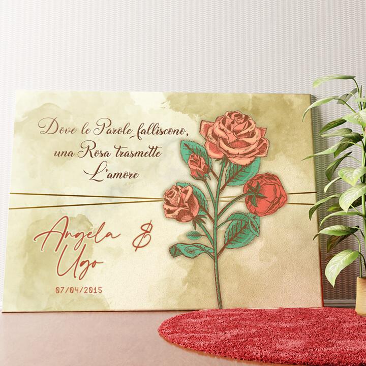 Tela personalizzata Rosa dell'amore