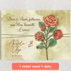 Tele personalizzate Rosa dell'amore