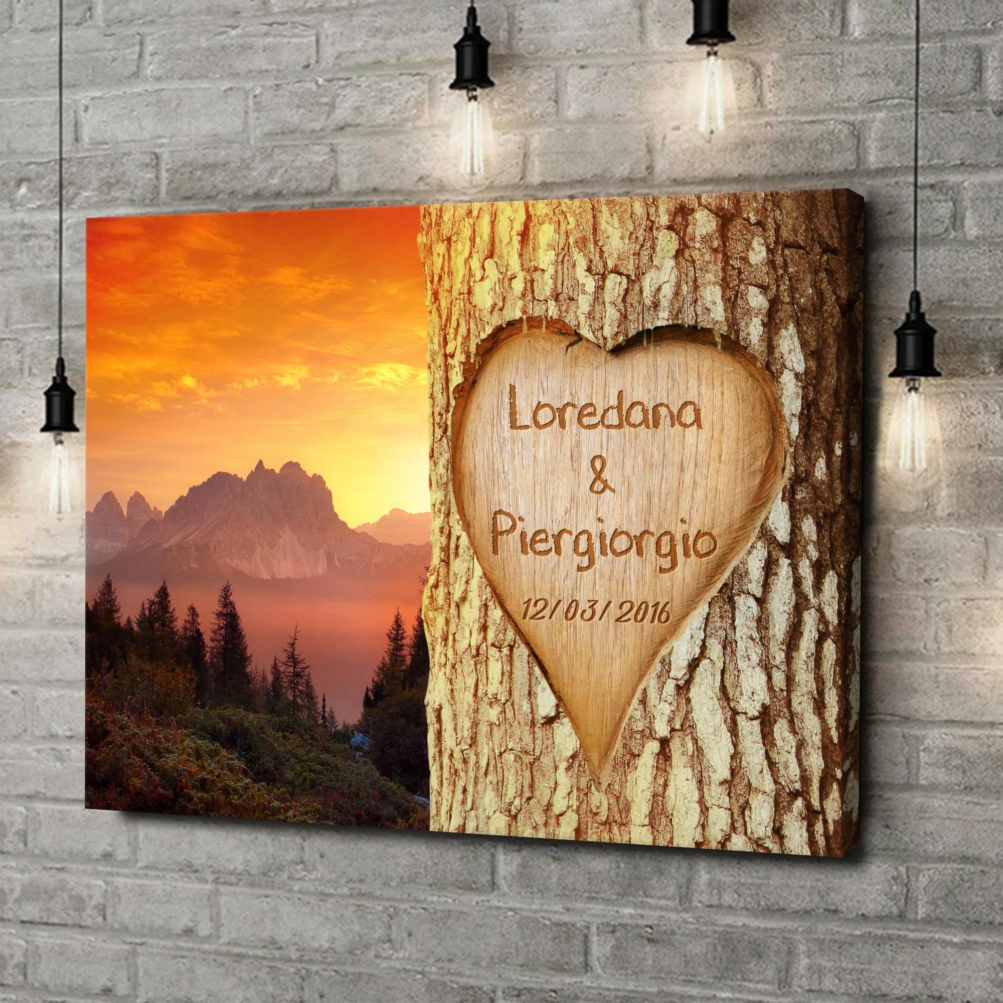 Stampa personalizzata su tela Amore immortalato