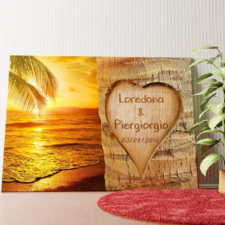 Tela personalizzata Amore immortalato