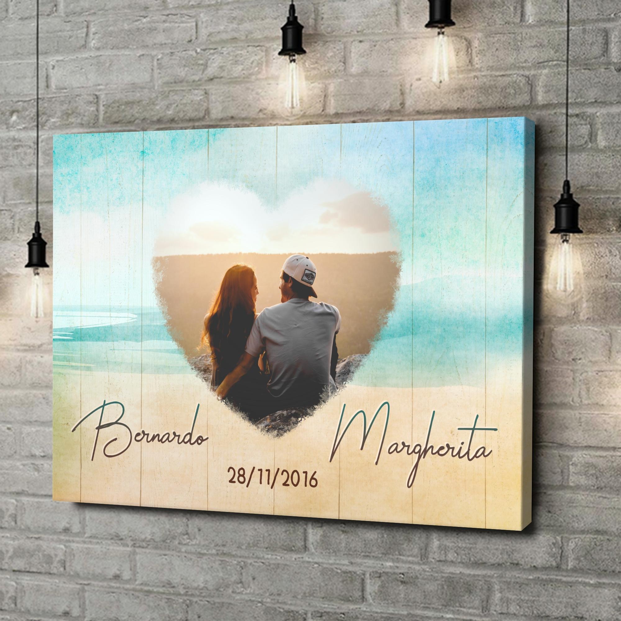 Stampa personalizzata su tela La spiaggia dell'amore