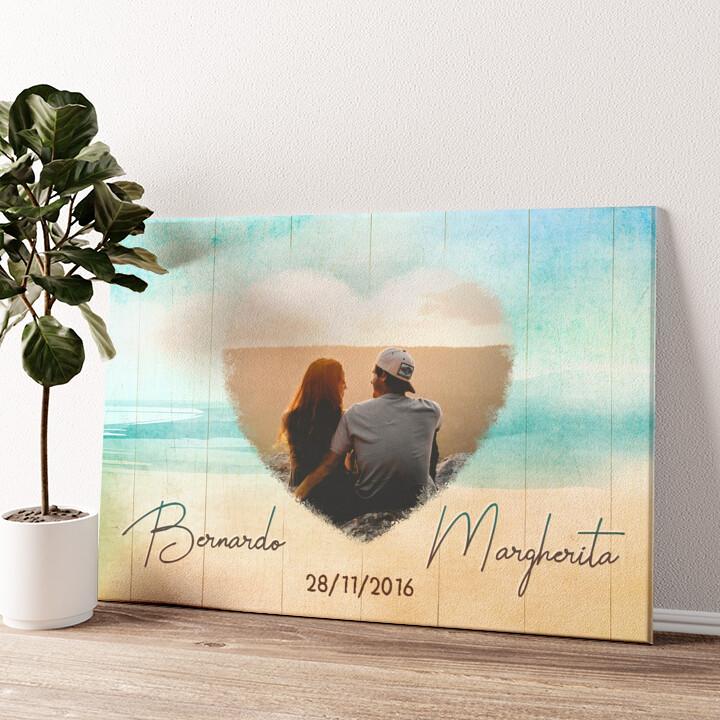 La spiaggia dell'amore Tela personalizzata