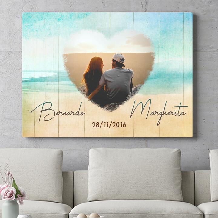 Regalo personalizzato La spiaggia dell'amore