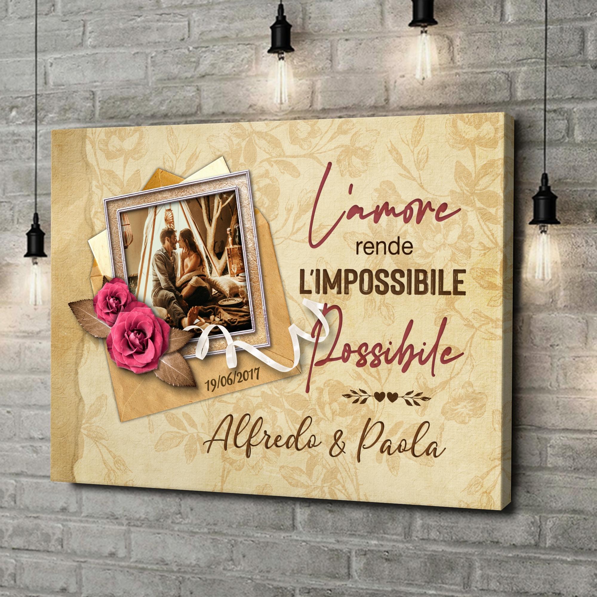 Stampa personalizzata su tela L'impossibile diventa possibile