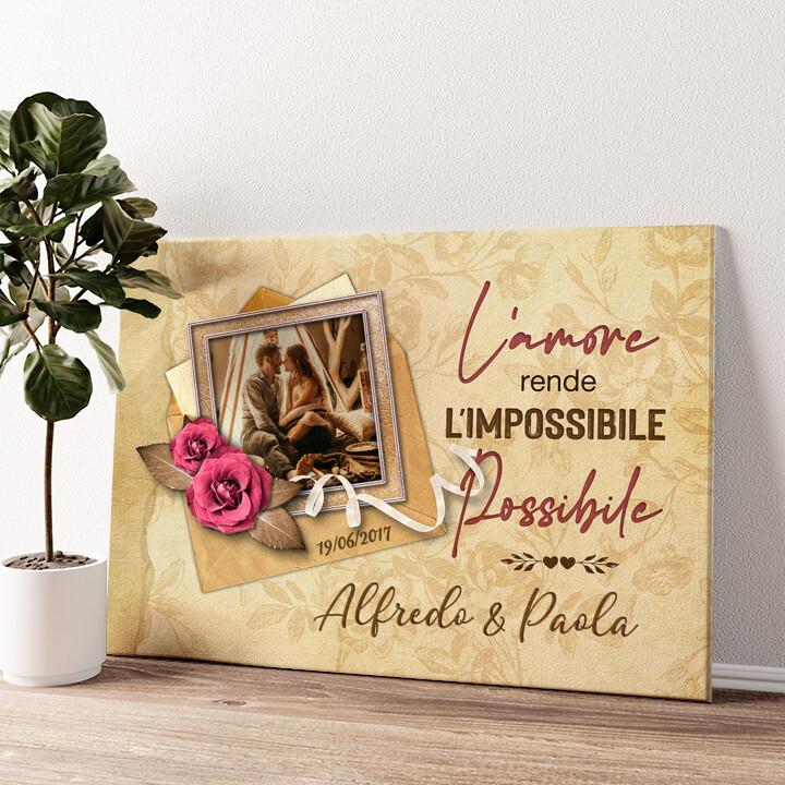 L'impossibile diventa possibile Tela personalizzata