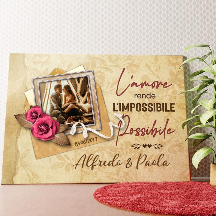 Tela personalizzata L'impossibile diventa possibile