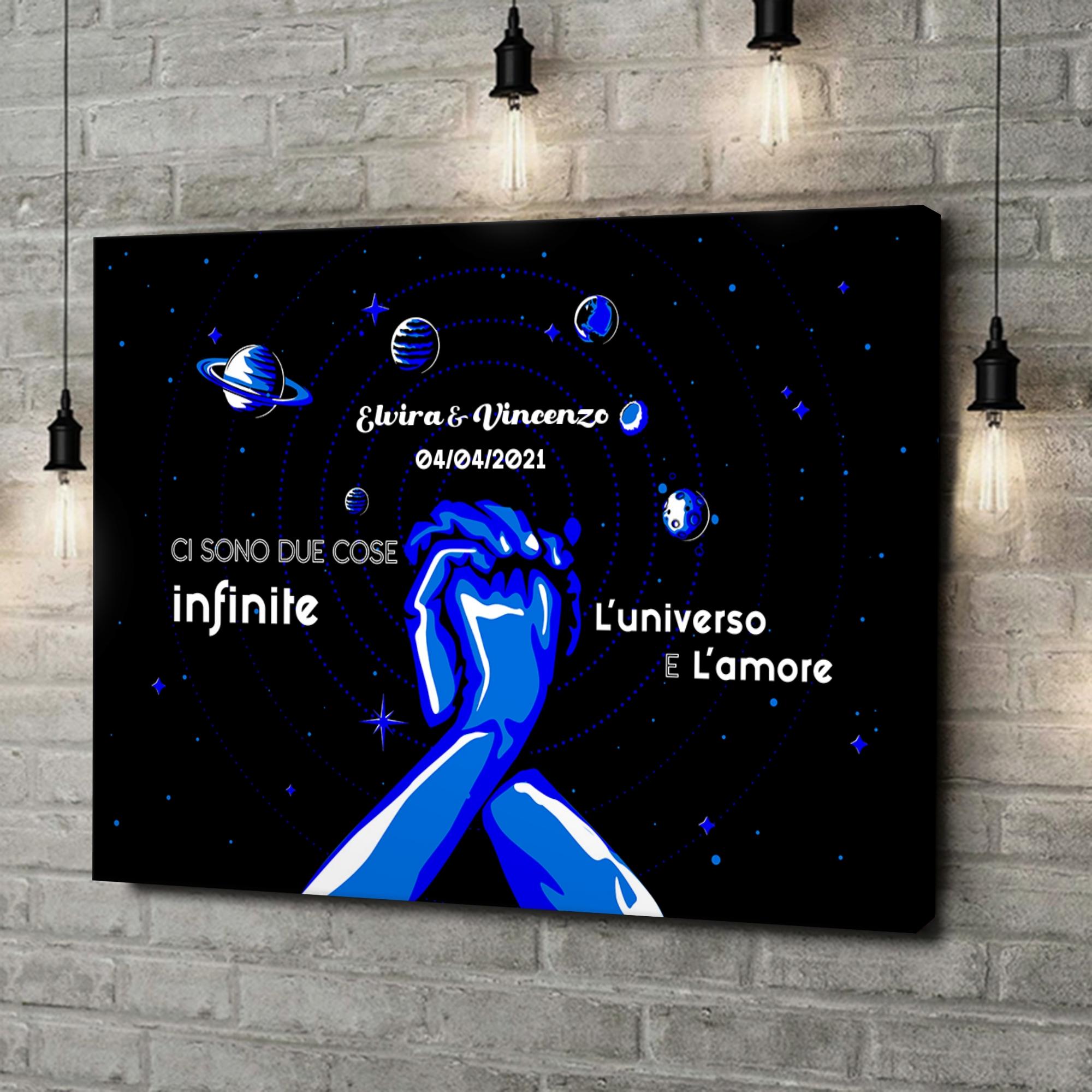 Stampa personalizzata su tela Il nostro universo