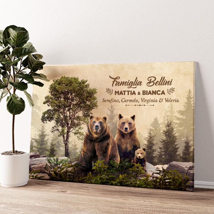 Famiglia Beren Tela personalizzata
