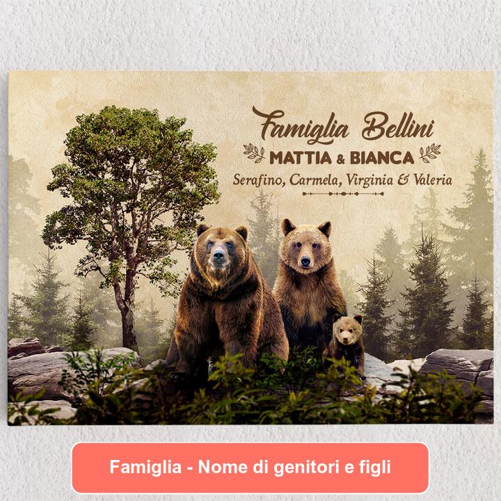 Tele personalizzate Famiglia Beren