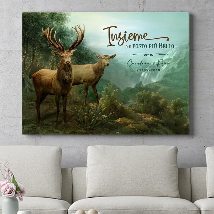 Regalo personalizzato Cervo innamorato