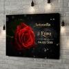 Stampa personalizzata su tela Rosa d'amore