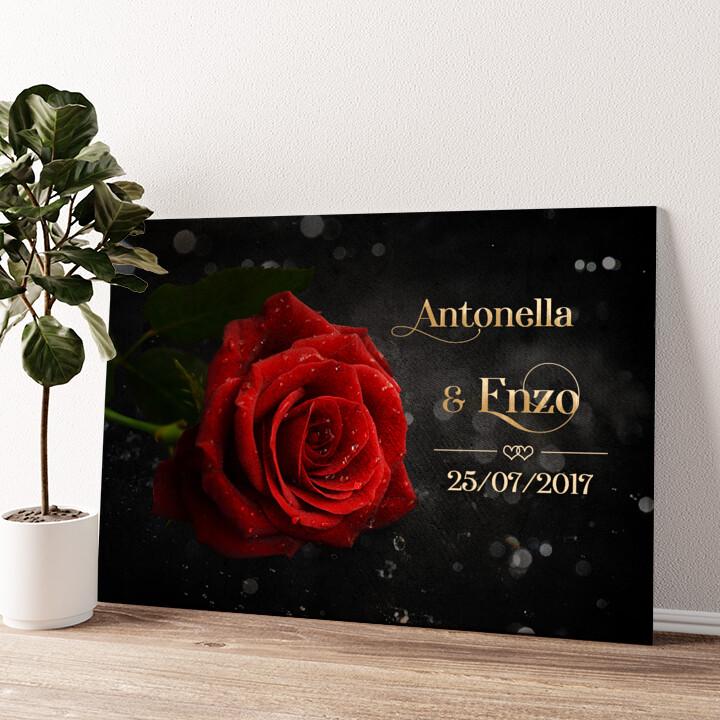 Rosa d'amore Tela personalizzata