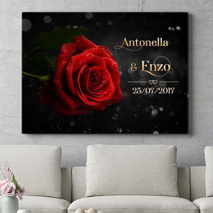 Regalo personalizzato Rosa d'amore