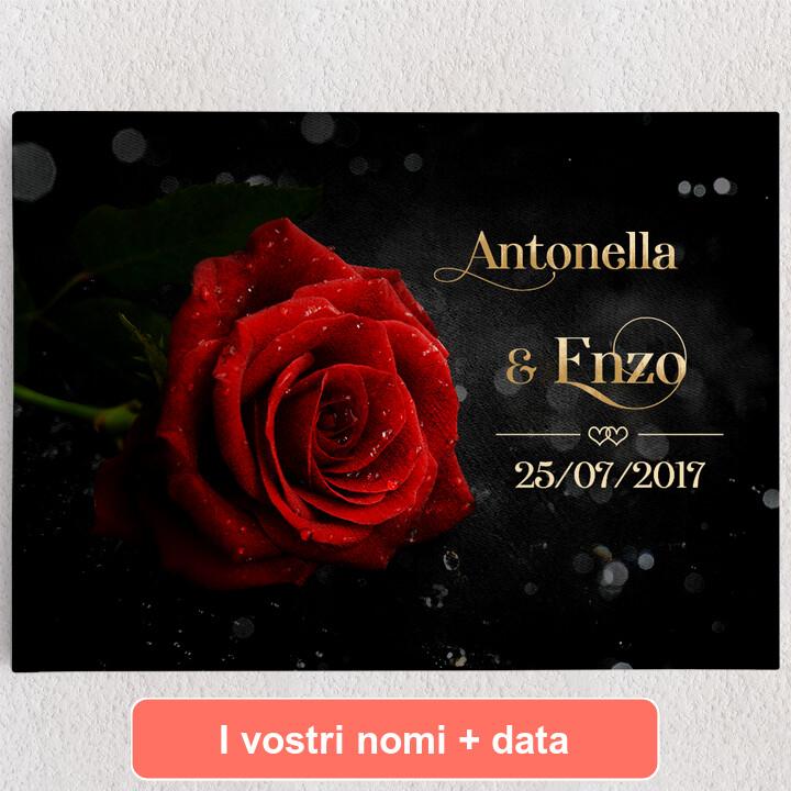 Tele personalizzate Rosa d'amore