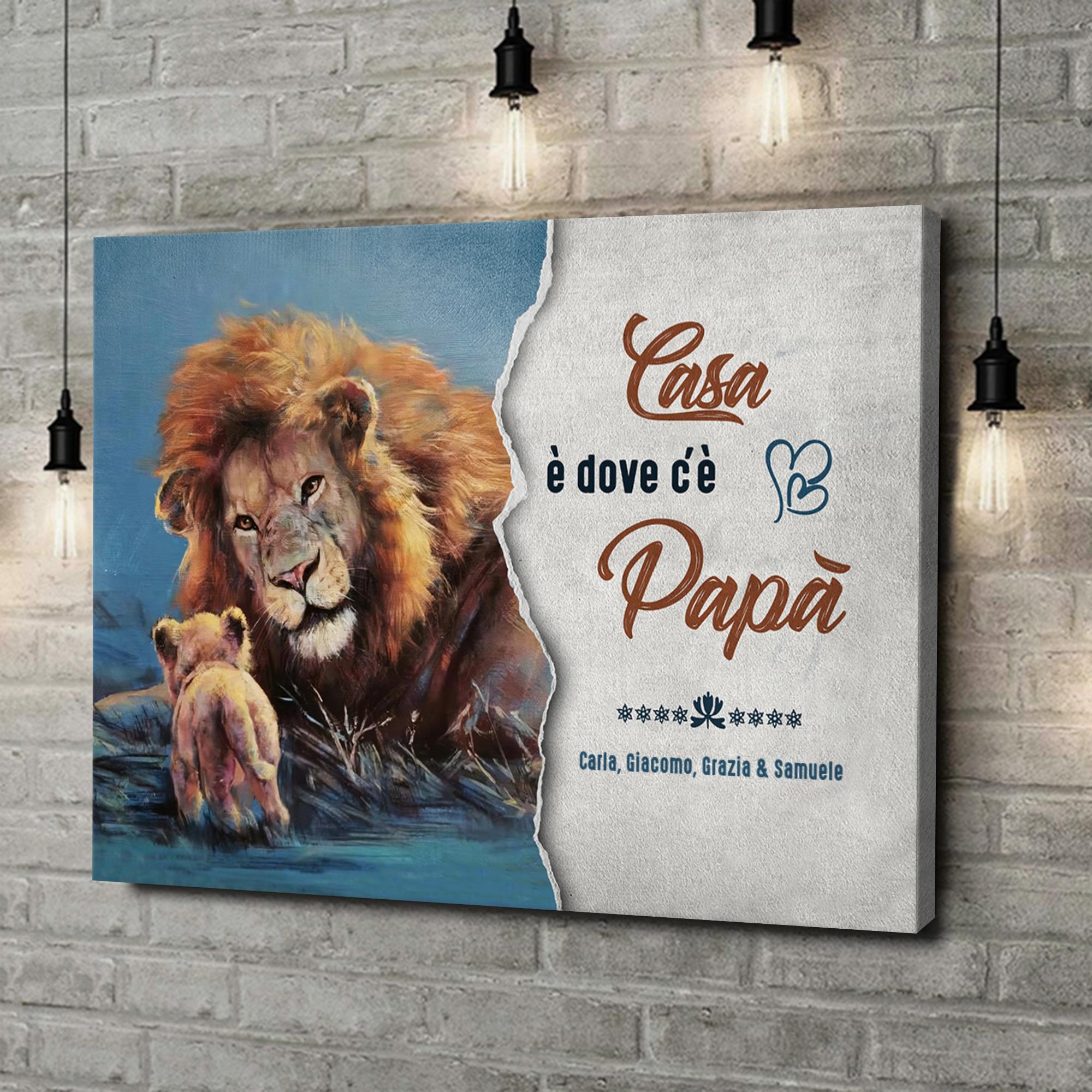 Stampa personalizzata su tela Mio papà - La mia casa