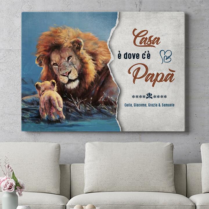 Regalo personalizzato Mio papà - La mia casa
