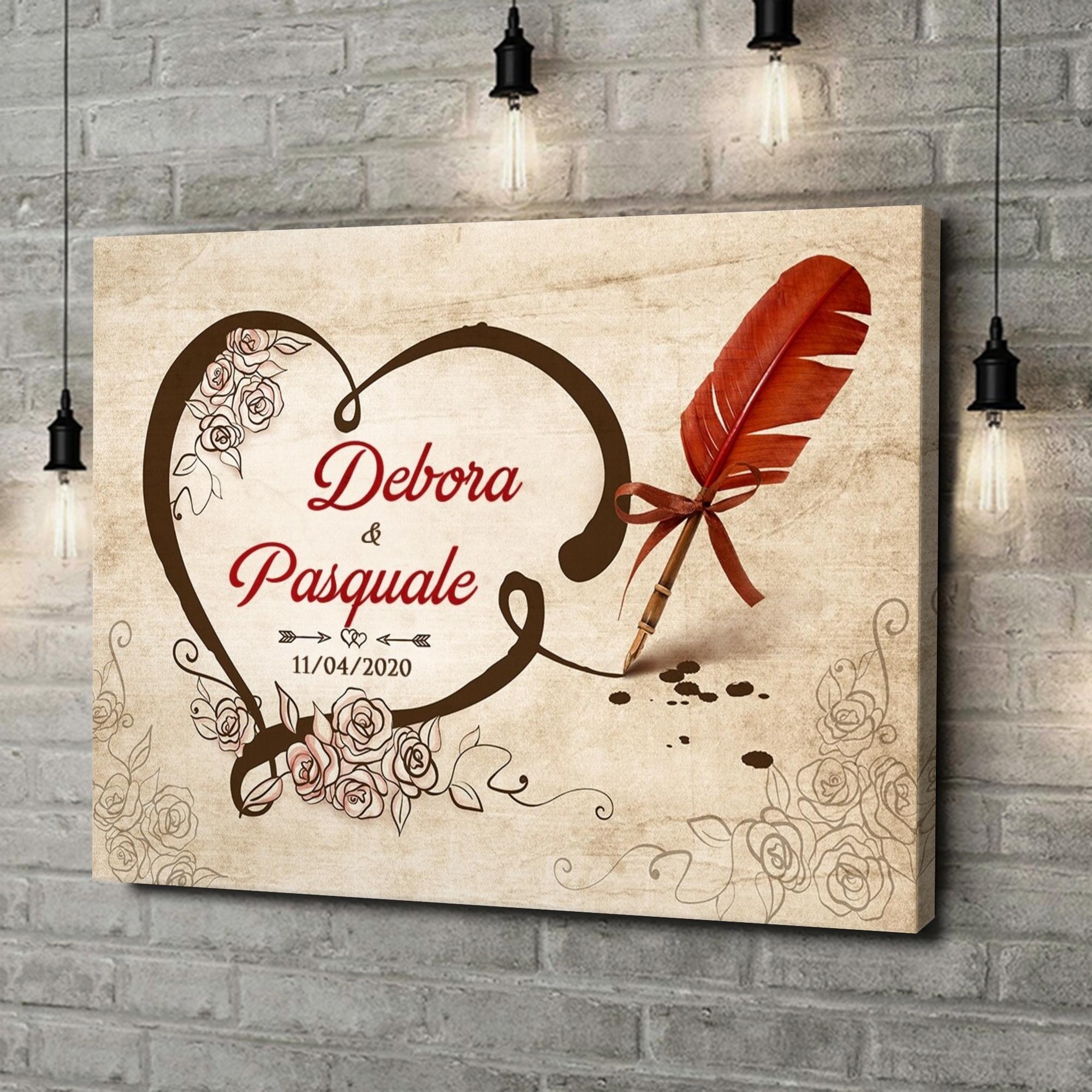 Stampa personalizzata su tela Amore sigillato
