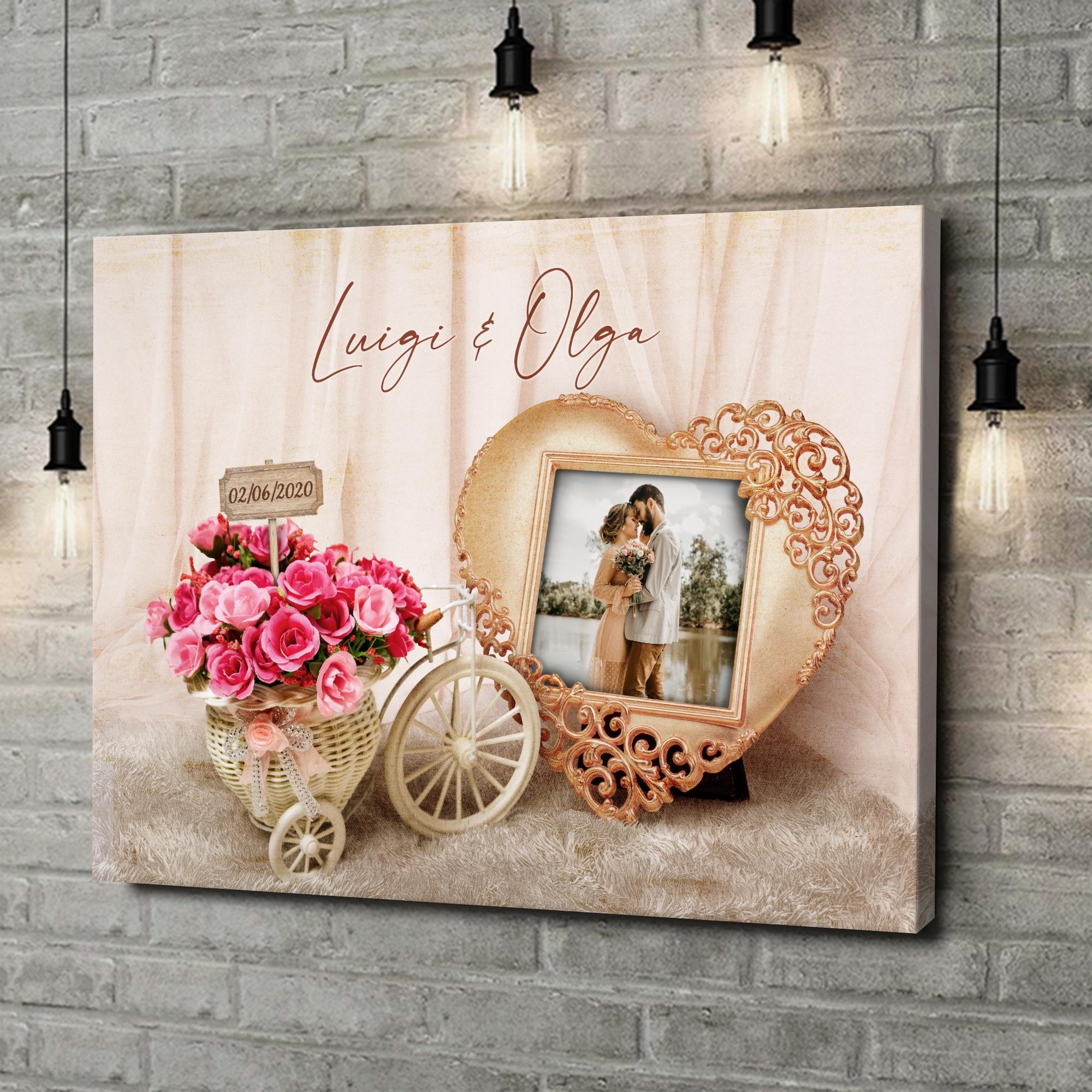 Stampa personalizzata su tela Sentimenti di matrimonio