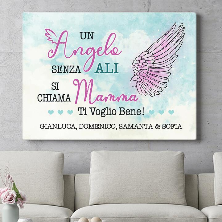 Regalo personalizzato Angelo della famiglia