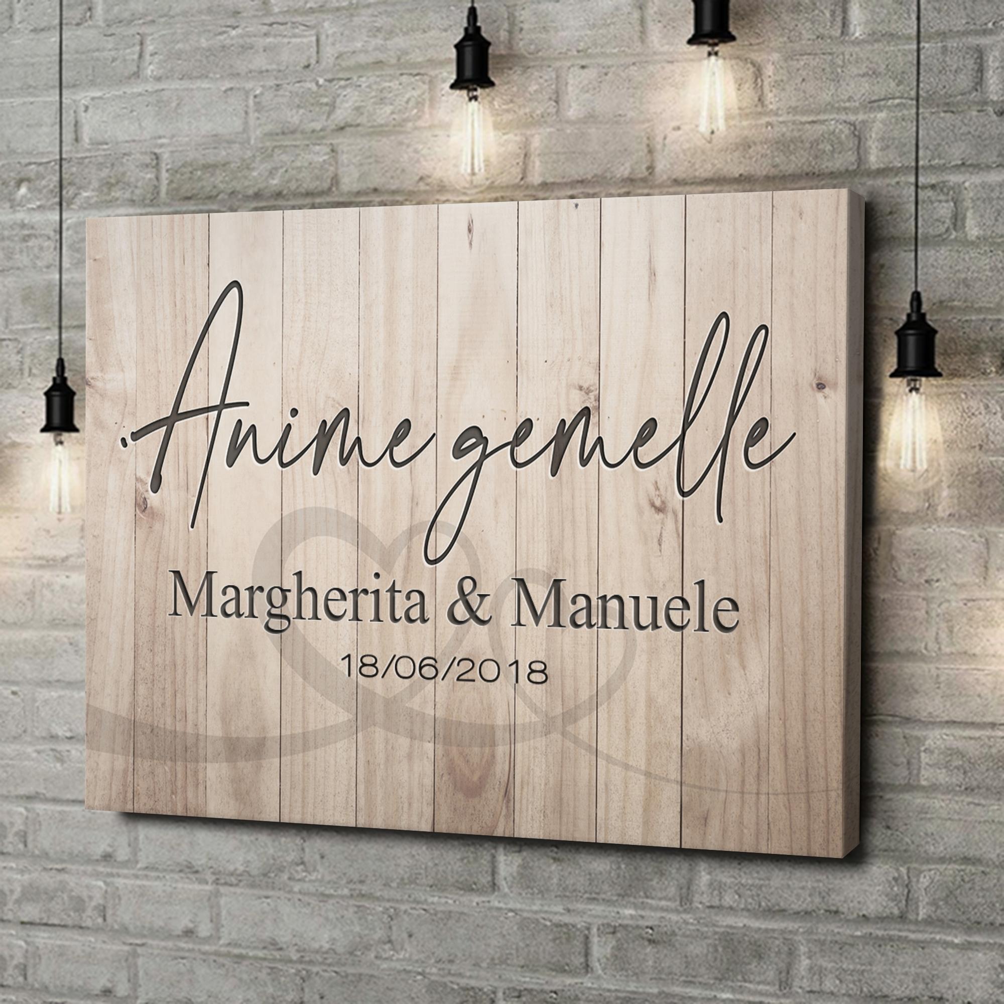 Stampa personalizzata su tela Anima Gemella