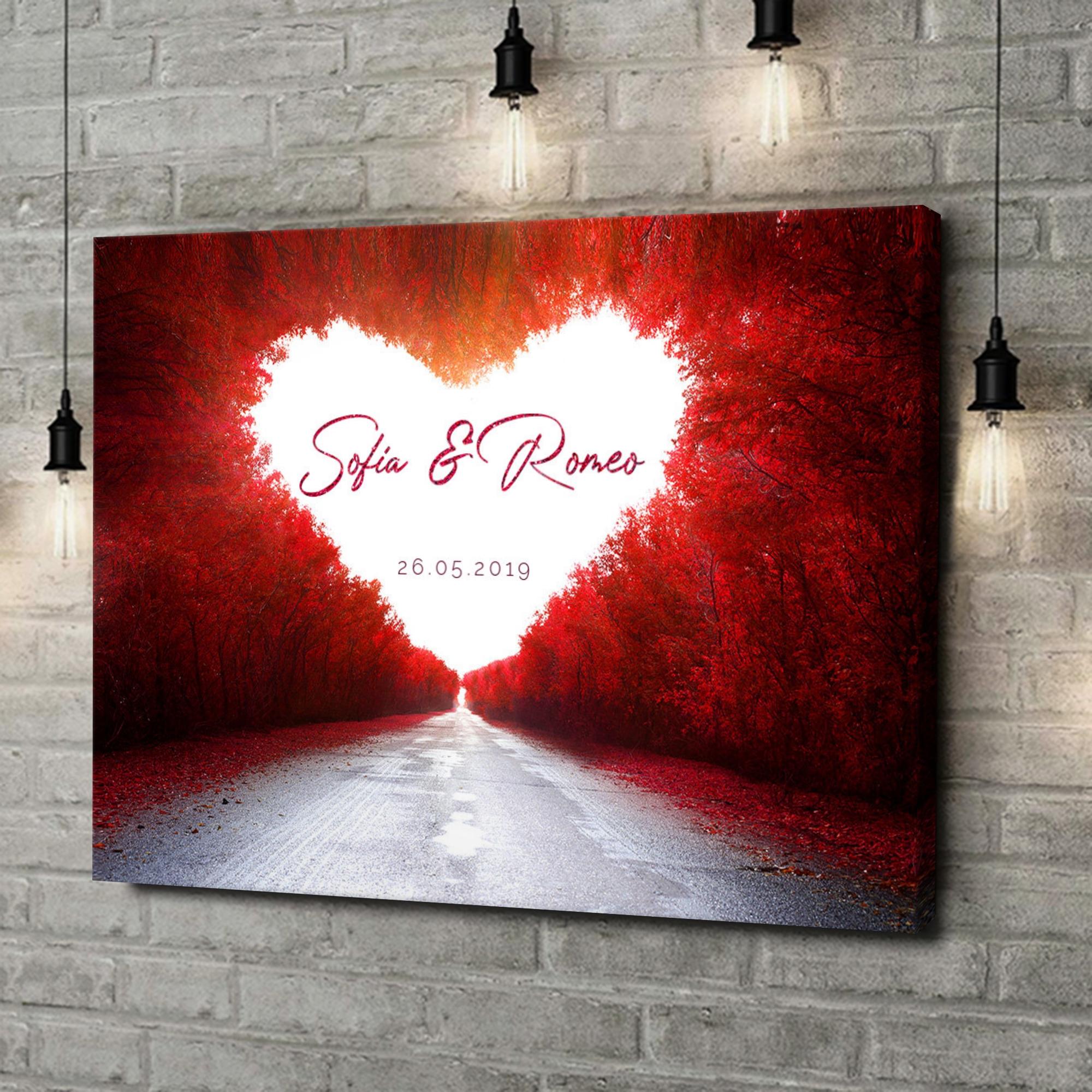 Stampa personalizzata su tela Strada dell'amore