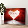 Strada dell'amore Tela personalizzata