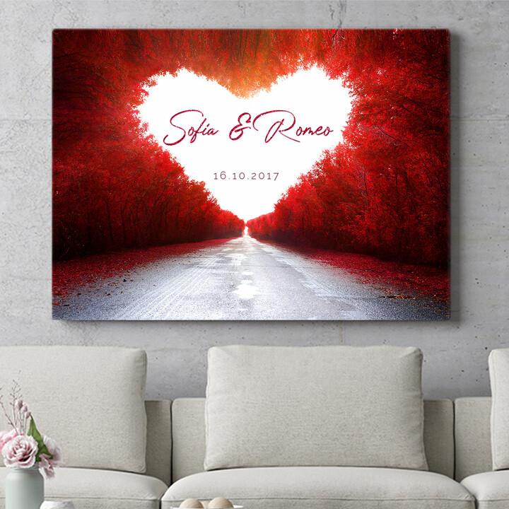 Regalo personalizzato Strada dell'amore