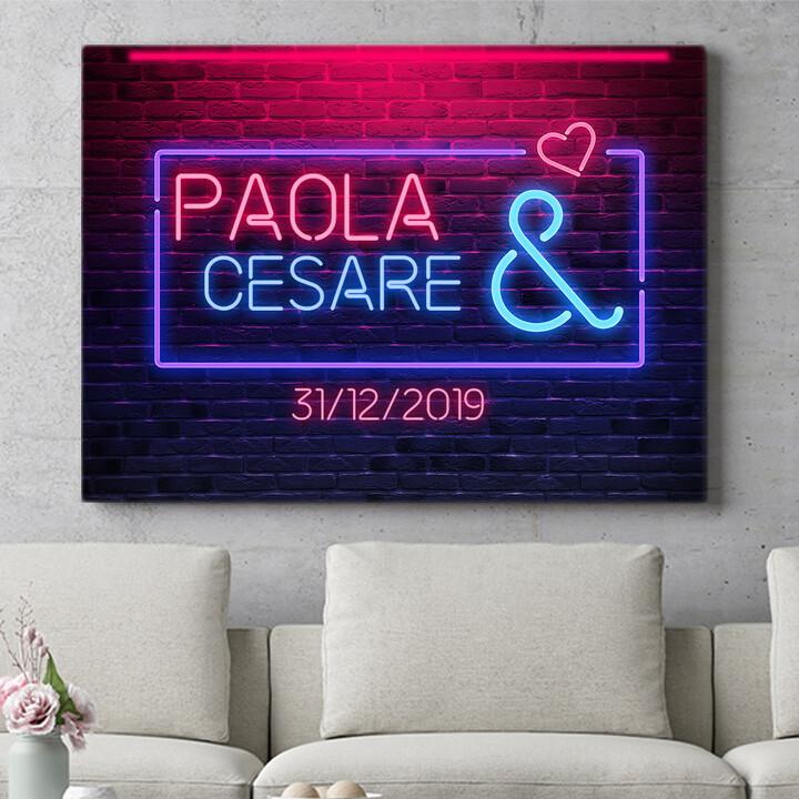 Regalo personalizzato Amore Neon